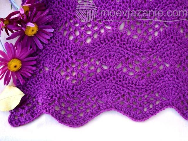 ажурный шарф крючком фото
