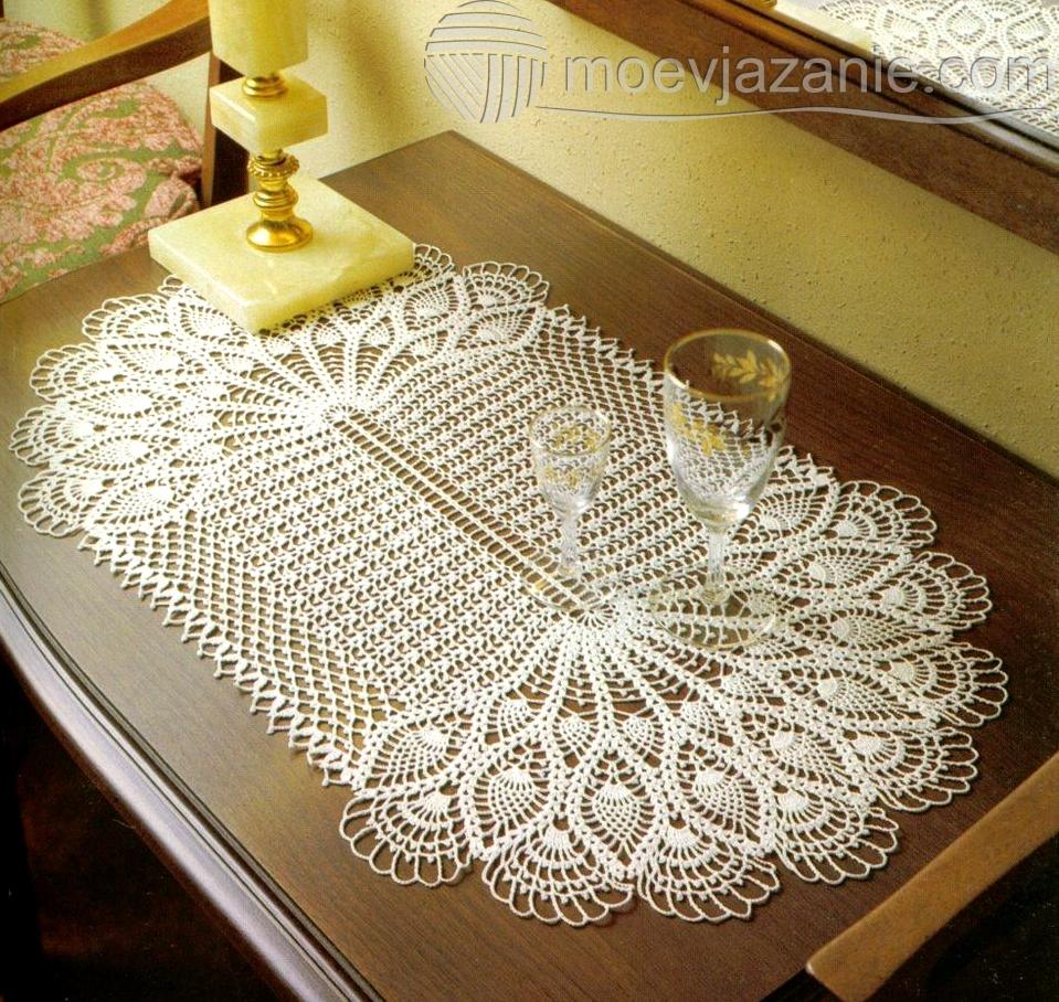 Крючок вязание салфеток со схемами