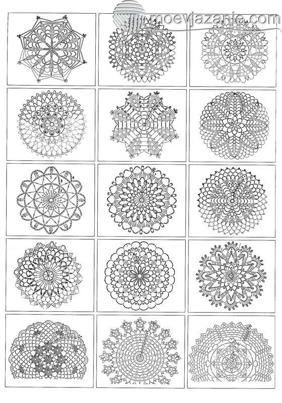 схемы вязания крючком по кругу