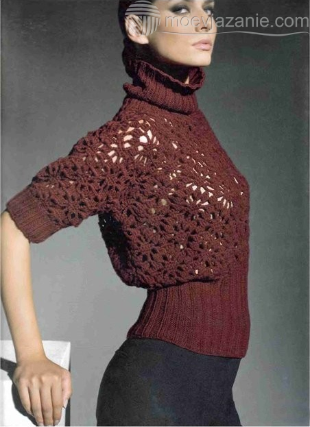 свитер вязанный фото