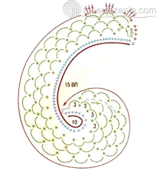 Вязание крючком мотив для туники 52