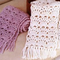 шарф с ажурным узором