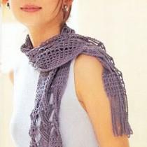 вязаный шарф узор