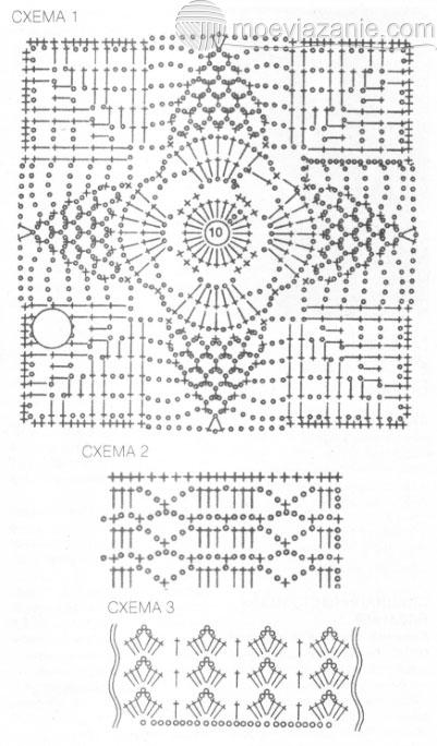 Вязание крючком мотивы для юбки 32