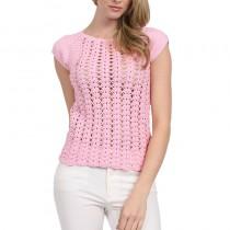 розовая кофточка с коротким рукавом