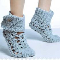 Синие ажурные носочки
