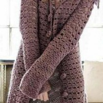 Нежное вязаное пальто
