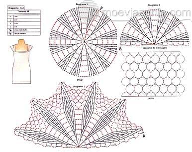 Вязание крючок ажурные узоры платье 95