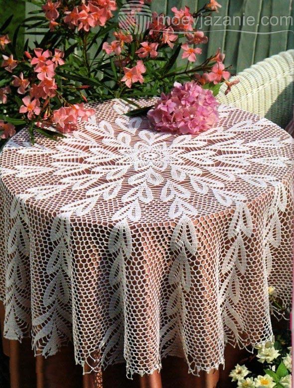 Вязание крючком скатерти фото