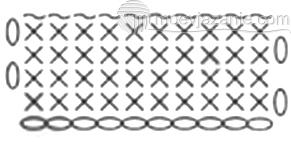 схема плетения обратным ходом