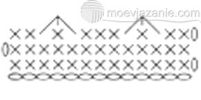 схема 3х столбиков без накида вместе