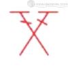 столбики, сплетенные крест-накрест - условное обозначение