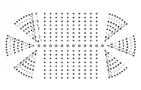 овальная схема подошвы пинетки