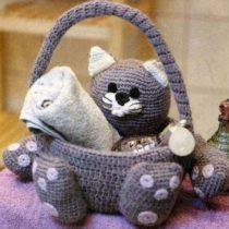 Кот-корзиночка для ванной