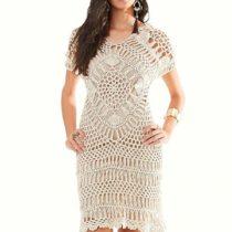 Платье, связанное на вилке